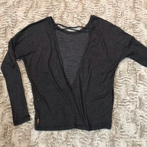 LUCY stretchy open back top